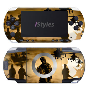 PSP 1st Gen Skin design of Soldier, Army men, Military organization, Infantry, Army, Military, Military person, Military uniform, Marines, Military officer with green, black, pink, red, gray, yellow colors