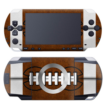 PSP 1st Gen Skin design of Brown, Beige, Pattern with black, gray, red, white colors
