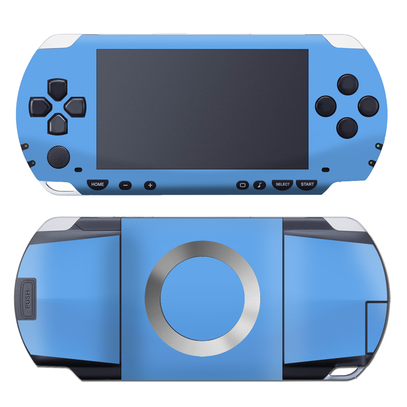 PSP 1st Gen Skin design of Sky, Blue, Daytime, Aqua, Cobalt blue, Atmosphere, Azure, Turquoise, Electric blue, Calm with blue colors