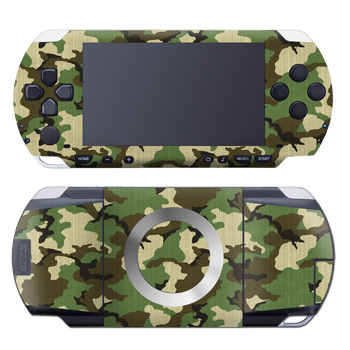 PSP 1st Gen Skin design of Military camouflage, Camouflage, Clothing, Pattern, Green, Uniform, Military uniform, Design, Sportswear, Plane with black, gray, green colors