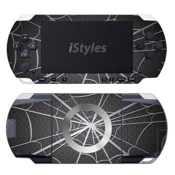 PSP 1st Gen Skin design of Black, Pattern, Black-and-white, Monochrome, Line, Spider web, Symmetry, Design, Monochrome photography, Stock photography with black, gray colors