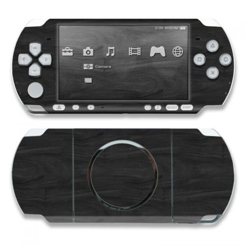 Black Woodgrain PSP 3000 Skin