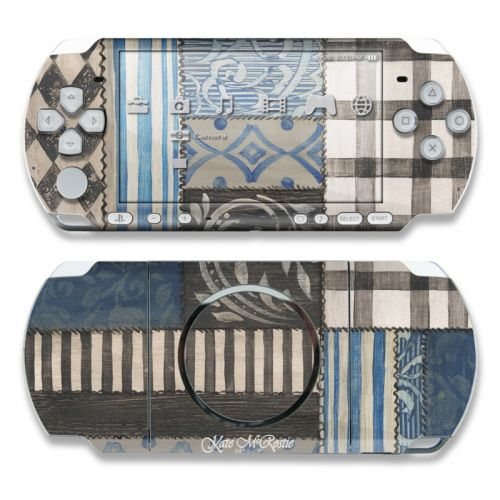 Country Chic Blue PSP 3000 Skin