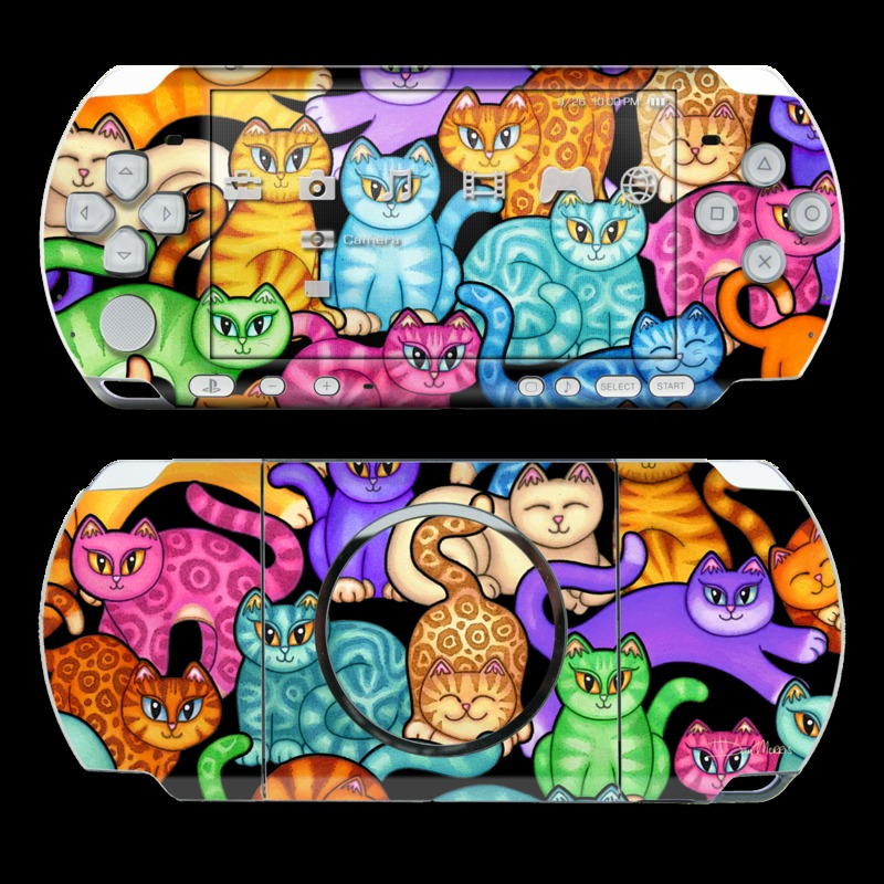 Colorful Kittens PSP 3000 Skin