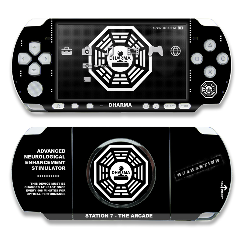 Dharma Black PSP 3000 Skin
