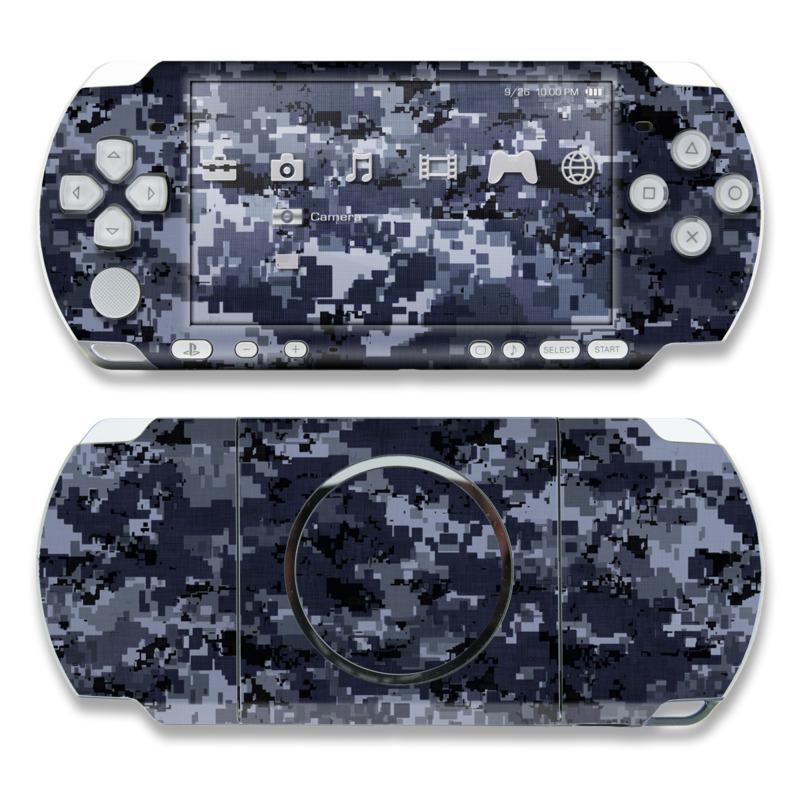 Digital Navy Camo PSP 3000 Skin