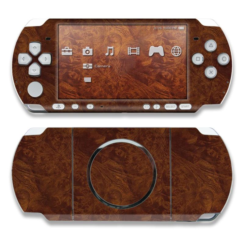 Dark Burlwood PSP 3000 Skin