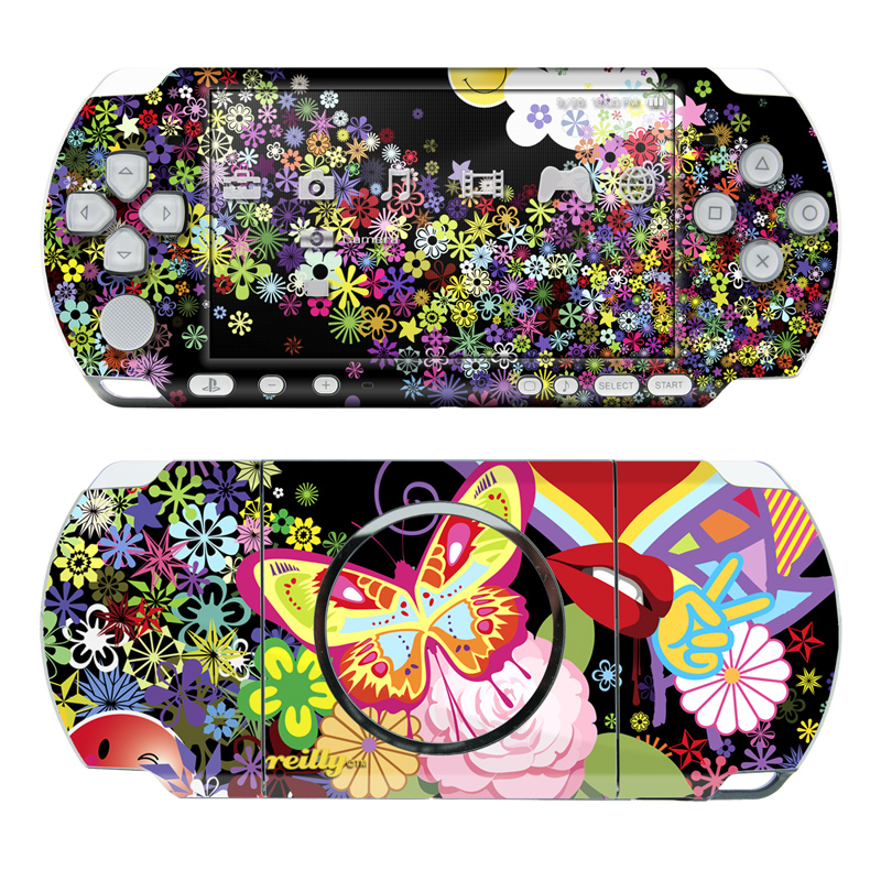 Flower Cloud PSP 3000 Skin