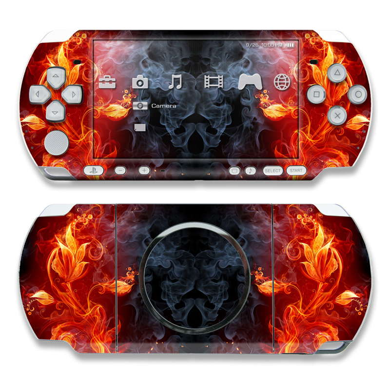 Flower Of Fire PSP 3000 Skin