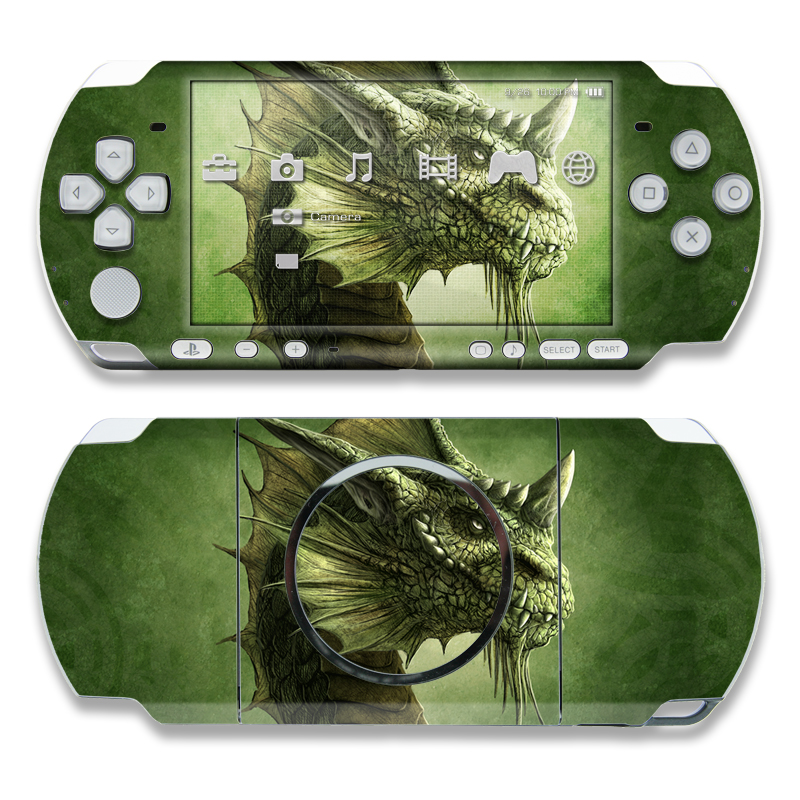Green Dragon PSP 3000 Skin