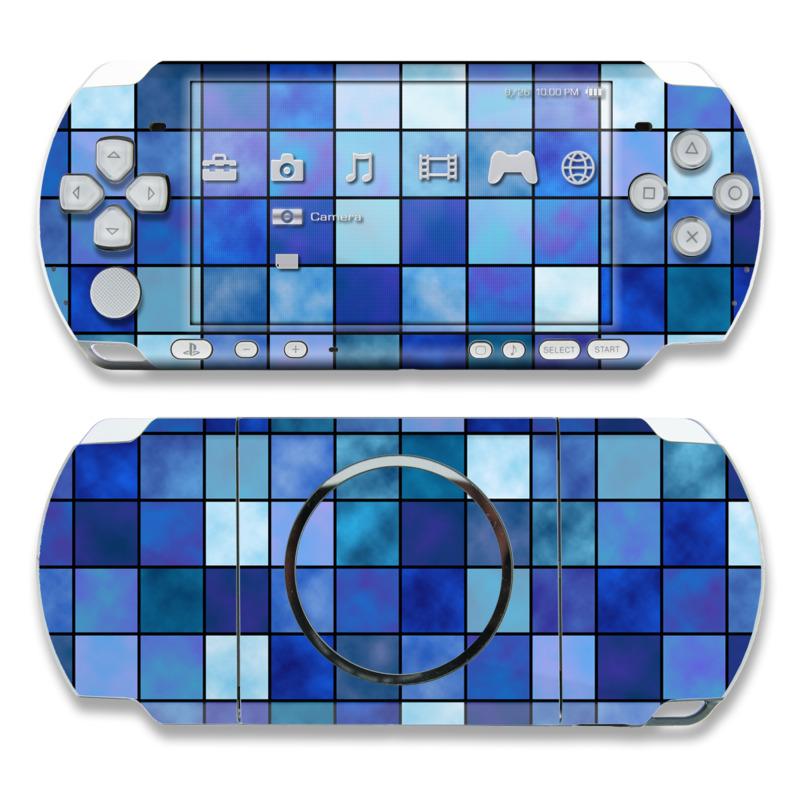 Blue Mosaic PSP 3000 Skin
