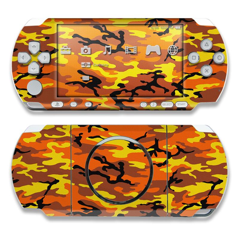Orange Camo PSP 3000 Skin