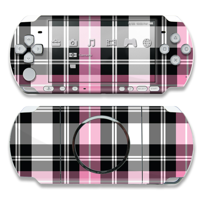 Pink Plaid PSP 3000 Skin