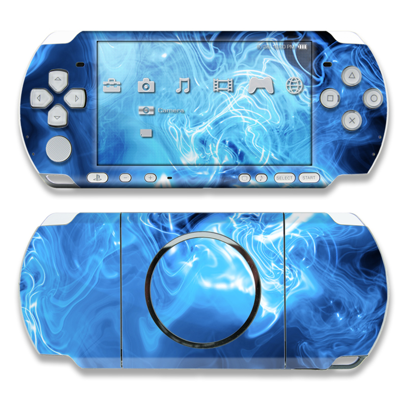 Blue Quantum Waves PSP 3000 Skin