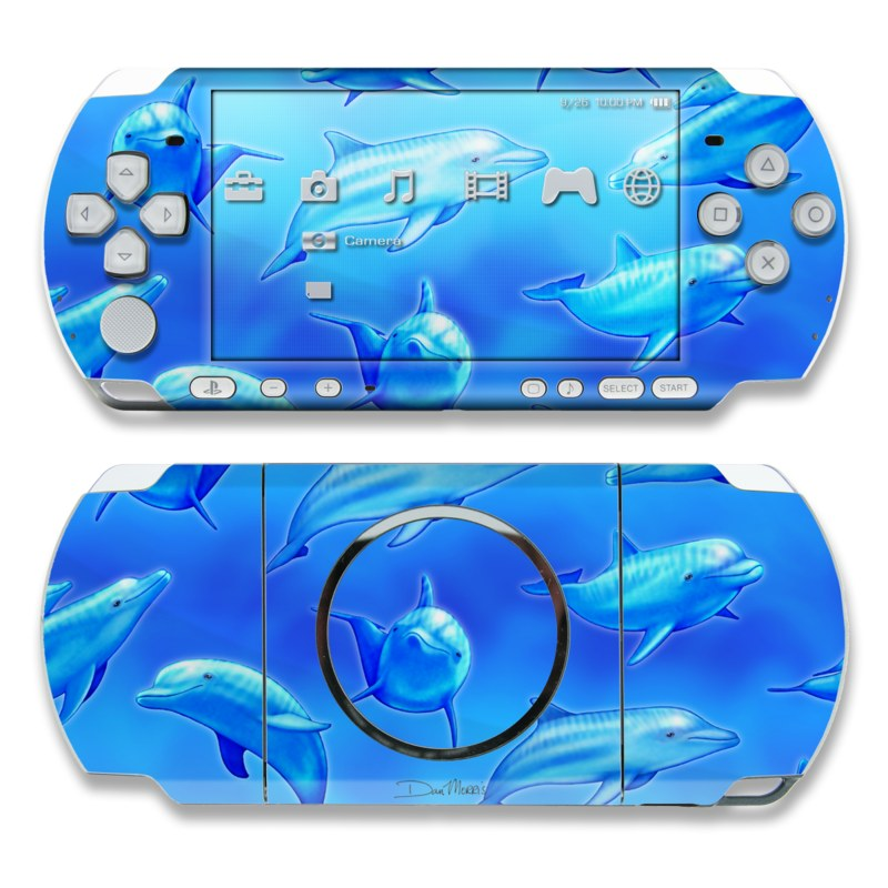 Swimming Dolphins PSP 3000 Skin