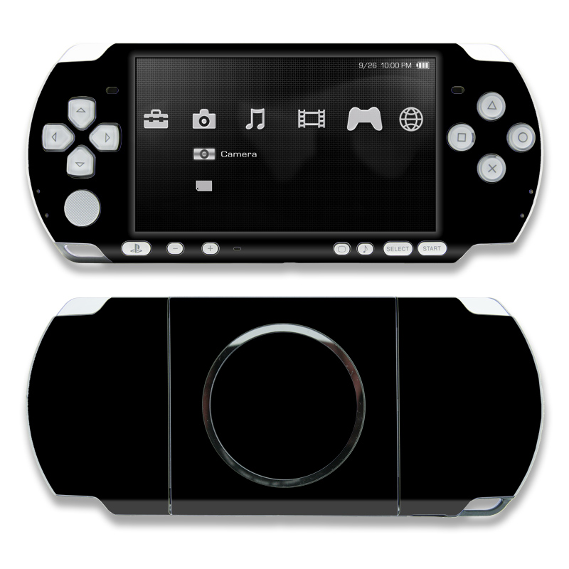 Solid State Black PSP 3000 Skin
