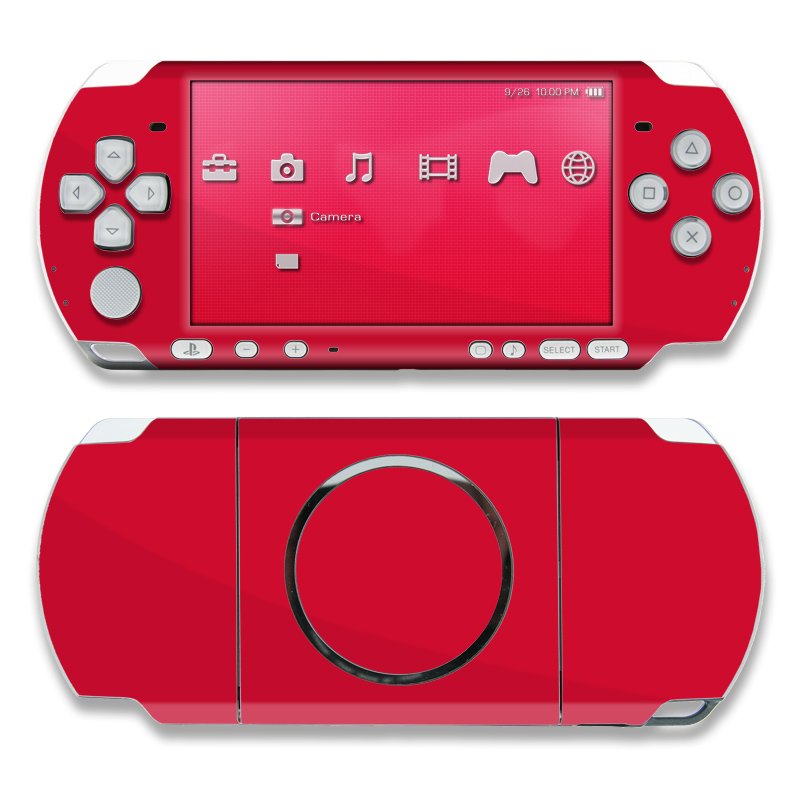 Solid State Red PSP 3000 Skin