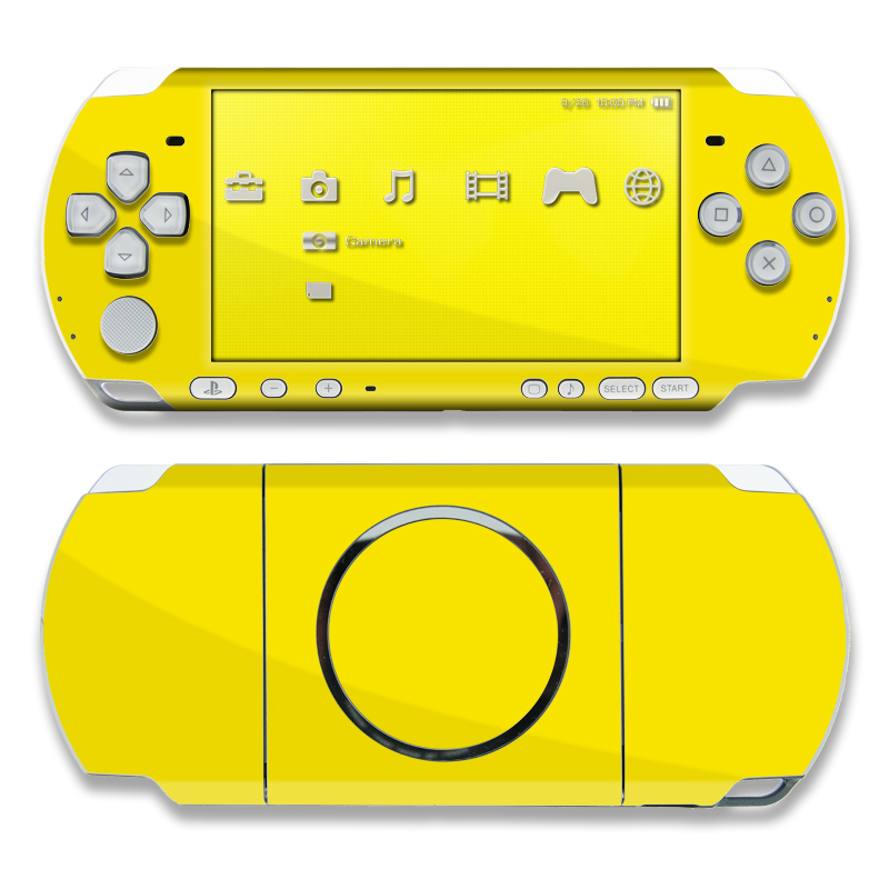Solid State Yellow PSP 3000 Skin