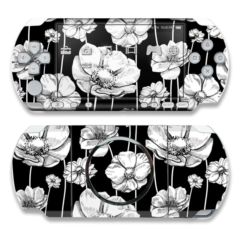 Striped Blooms PSP 3000 Skin