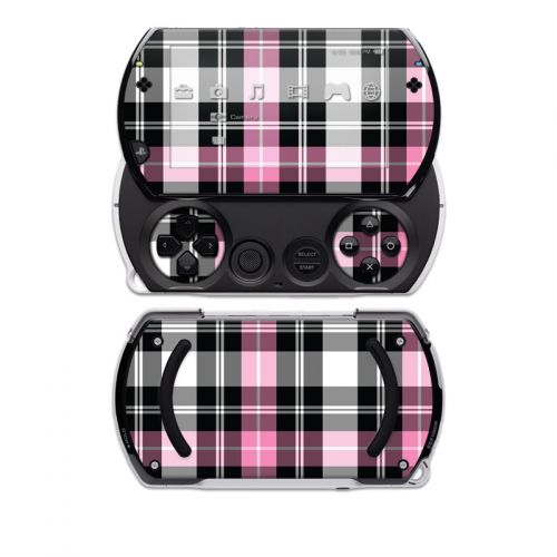 Pink Plaid Sony PSP go Skin