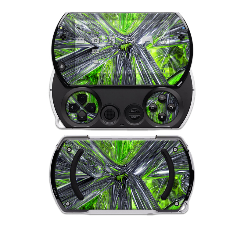Emerald Abstract PSP go Skin