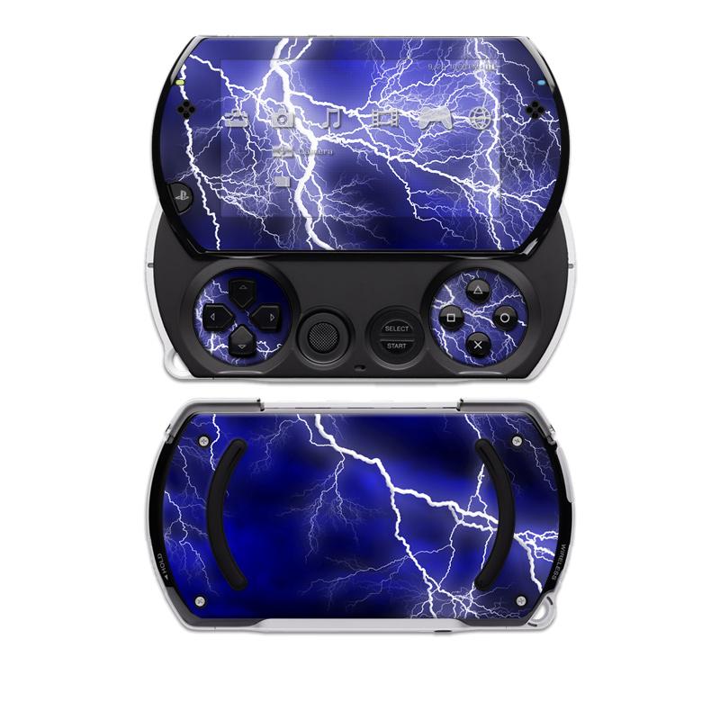 Apocalypse Blue Sony PSP go Skin