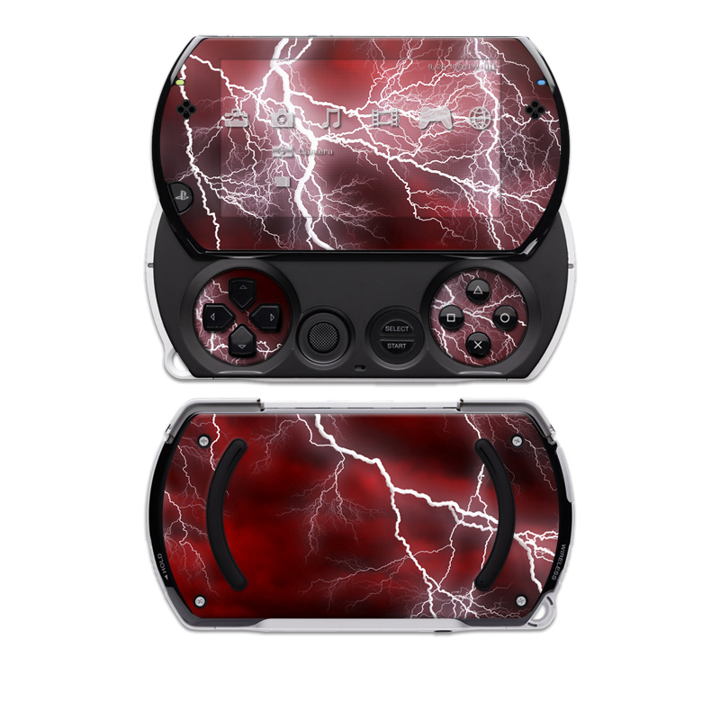 Apocalypse Red Sony PSP go Skin