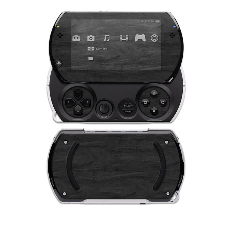 PSP go Skin design of Black, Brown, Wood, Grey, Flooring, Floor, Laminate flooring, Wood flooring with black colors