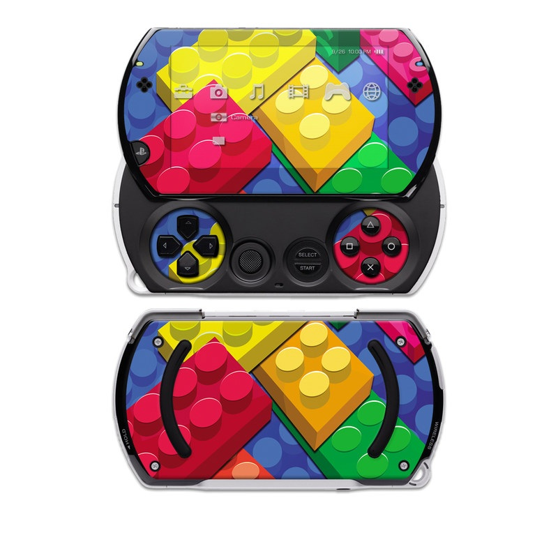 PSP go Skin design of Colorfulness, Pattern, Circle, Games, Play with red, blue, green, yellow, orange, pink colors