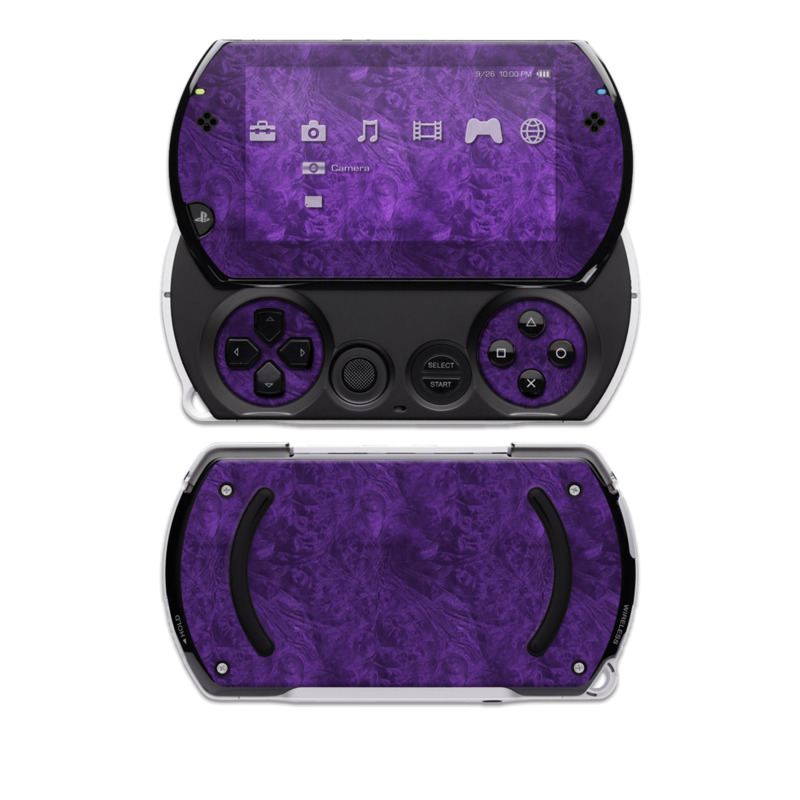Purple Lacquer Sony PSP go Skin