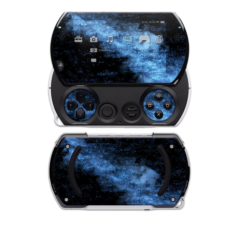 PSP go Skin design of Sky, Atmosphere, Black, Blue, Outer space, Atmospheric phenomenon, Astronomical object, Darkness, Universe, Space with black, blue colors