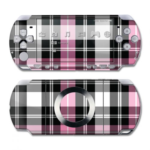 Pink Plaid PSP Slim & Lite Skin