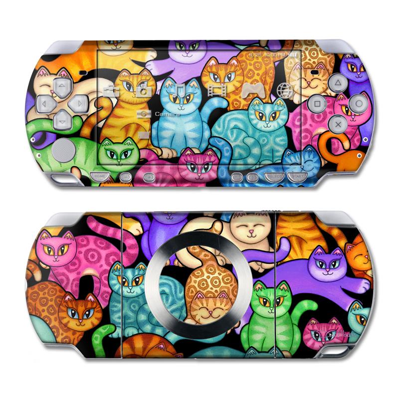 Colorful Kittens PSP Slim & Lite Skin
