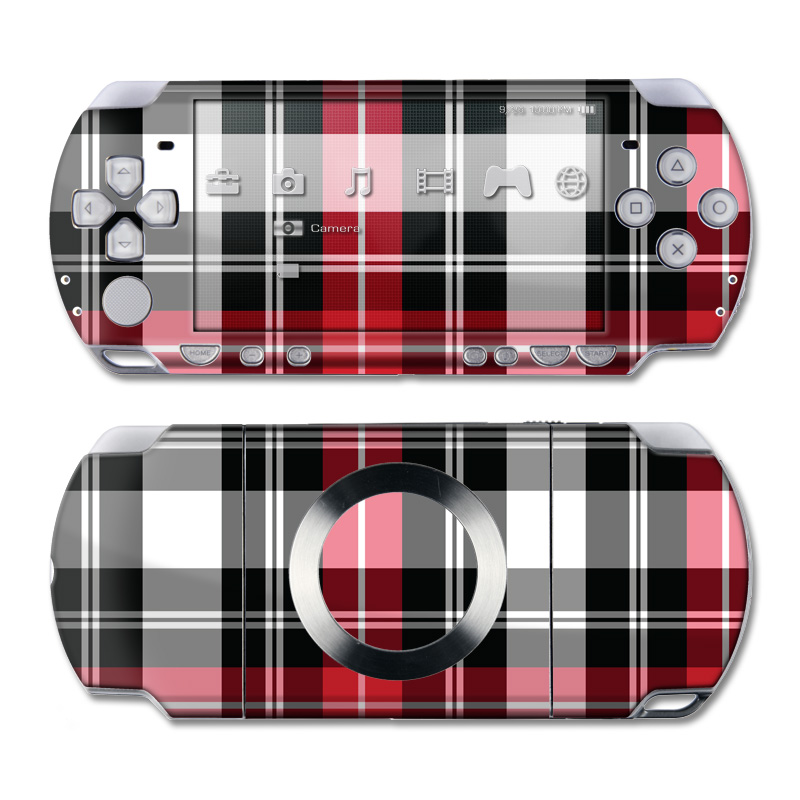 Red Plaid PSP Slim & Lite Skin
