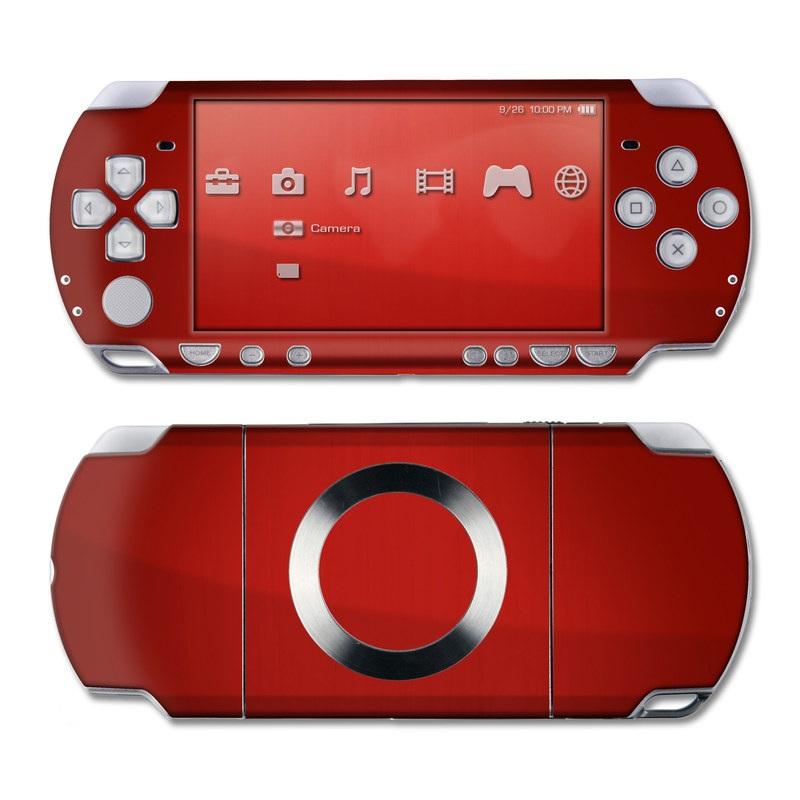 PSP 2nd Gen Slim & Lite Skin design of Red, Maroon, Orange, Brown, Peach, Pattern, Magenta with red colors