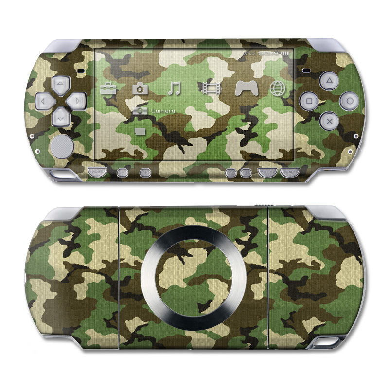 Woodland Camo PSP Slim & Lite Skin