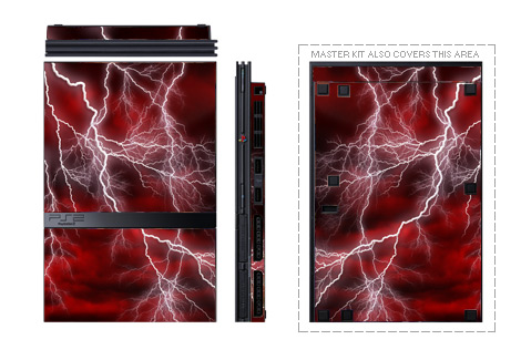 Old PS2 Skin design with red, black, white colors