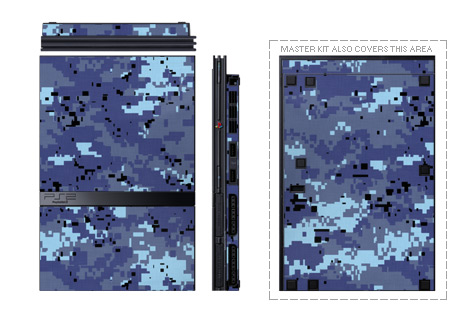 Digital Sky Camo PS2 Skin