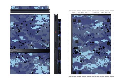 Old PS2 Skin design of Blue, Purple, Pattern, Lavender, Violet, Design with blue, gray, black colors