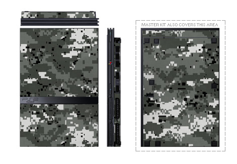 Old PS2 Skin design of Military camouflage, Pattern, Camouflage, Design, Uniform, Metal, Black-and-white with black, gray colors
