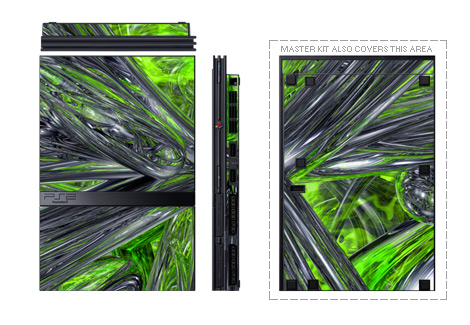 Emerald Abstract PS2 Skin