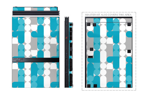 Neo Blue PS2 Skin