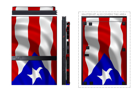 Old PS2 Skin design with red, blue, white colors