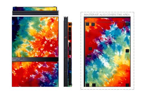 Tie Dyed PS2 Skin