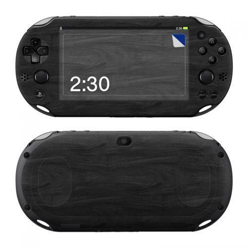 Black Woodgrain PlayStation Vita 2000 Skin