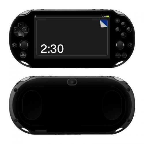 Solid State Black PlayStation Vita 2000 Skin
