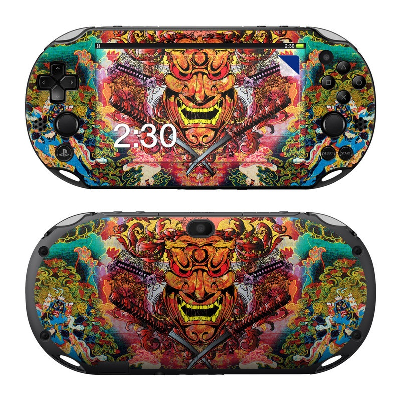 PlayStation Vita 2000 Skin design of Art, Psychedelic art, Visual arts, Illustration, Fictional character, Demon with red, orange, yellow colors
