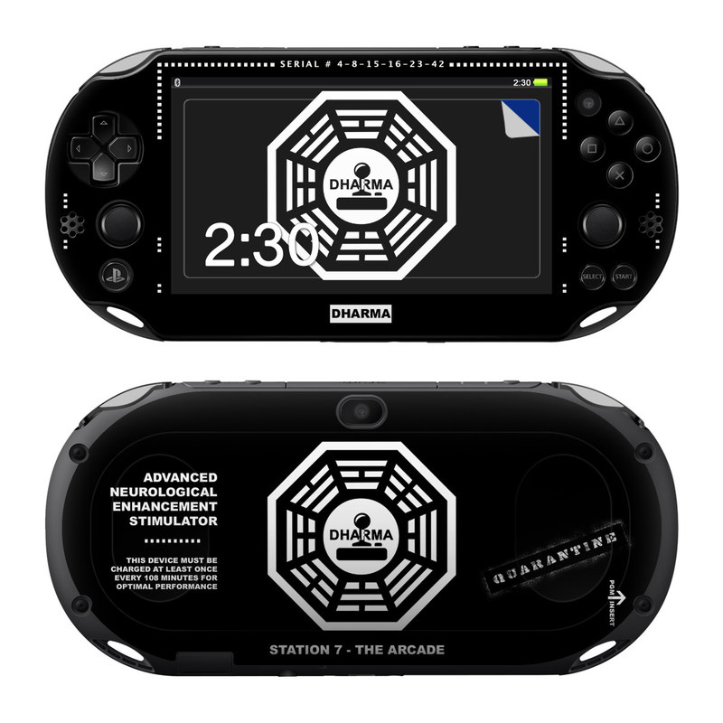 Dharma Black PlayStation Vita 2000 Skin