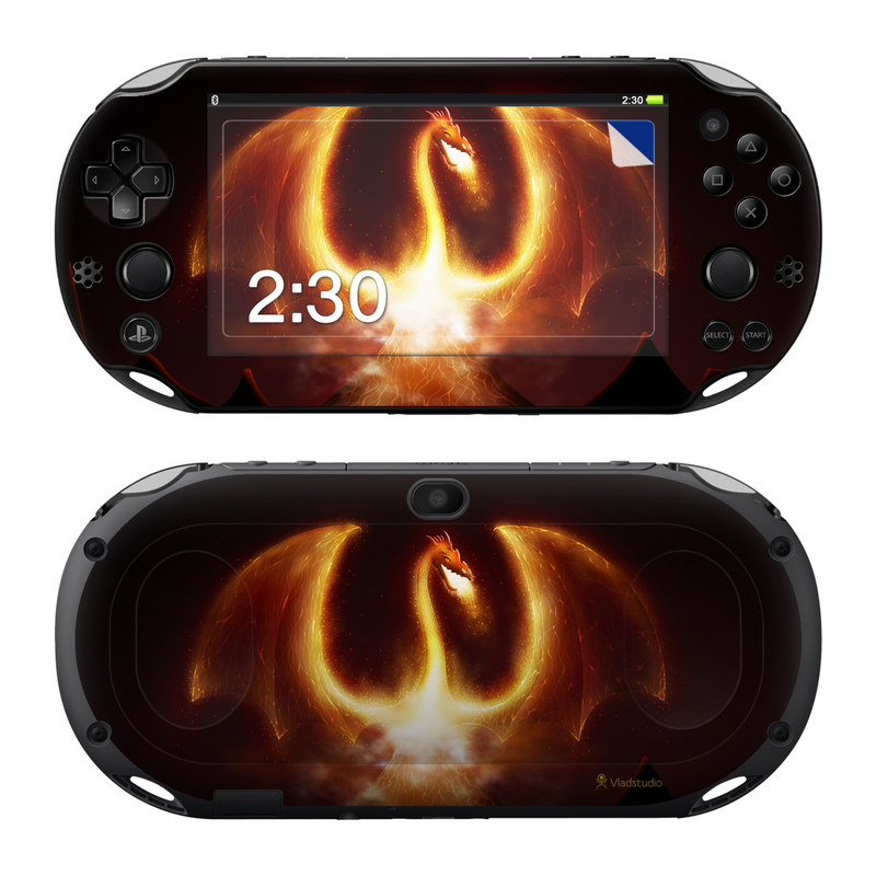Fire Dragon PlayStation Vita 2000 Skin