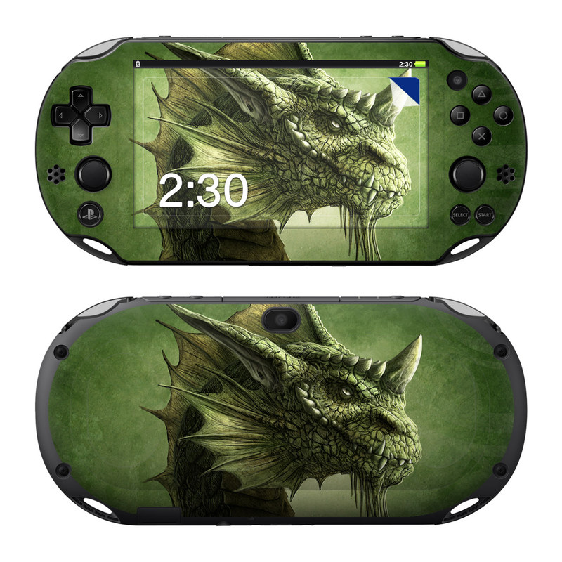 Green Dragon PlayStation Vita 2000 Skin